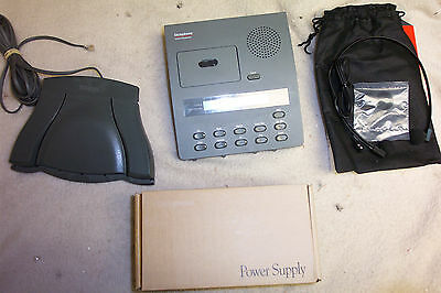 Dictaphone Model 3750 Micro Cassette Reconditioned Dictator/transcriber W/acc