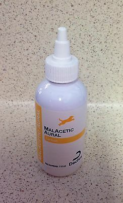 Malacetic aural 118ml dog ear cleaner flush for yeast malassezia ear infections