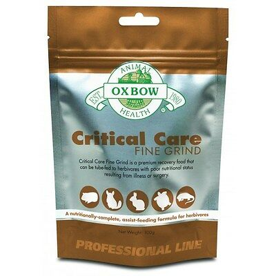 OXBOW CRITICAL CARE FINE GRIND 100g helps sick rabbits guinea pigs hamsters