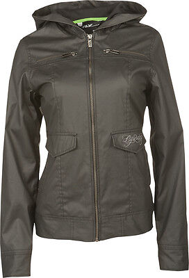 Fly Racing Waxed Ladies Jacket Black X