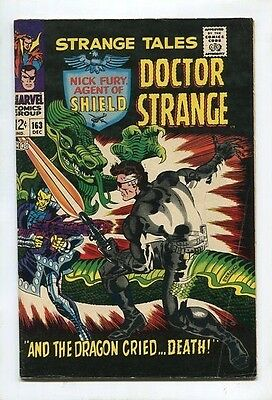 """Strange Tales #163 - """"AND THE DRAGON CRIED... DEATH!"""" - (5.0) 1967"""