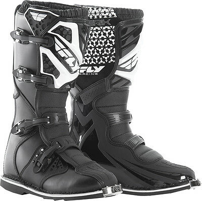 Fly Racing Maverik Mx Boots Black Sz 10