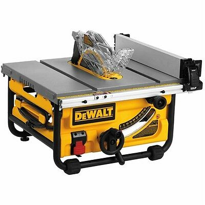 """Dewalt DWE7480 10"""" Compact Job Site Table Saw with Site-Pro Modular Guarding Sys"""
