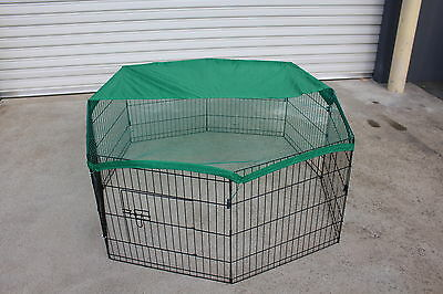 8 Panels Pet Dog Puppy Guinea Pig Rabbit Cage Playpen Enclosure
