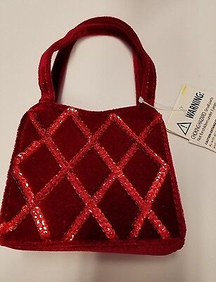 Toddler Girls Holiday Editions Red Velvet Purse NEW