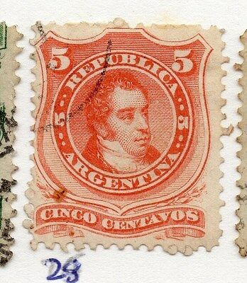 Argentina 1867 Early Issue Fine Used 5c. 073583