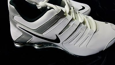 New MENS NIKE  SHOX  CURRENT WHITE SILVER BLACK  Size 12