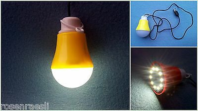 USB LED Lamp Yellow with 120mm Usb Cable Bulb shape 5W PC Laptop Tablet