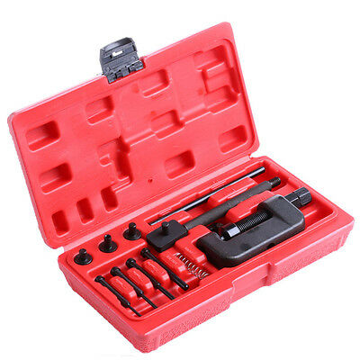 Motorcycle Bike Chain Breaker Splitter Link Riveter Riveting Repair Set Tool Kit