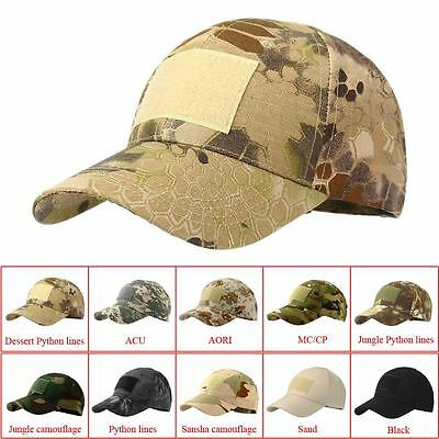 Cool Camouflage Hat Simplicity Outdoor Sun Hat Army Woodland Camo Tactical Cap