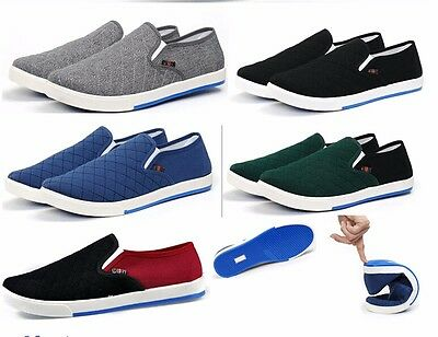 Hombre Zapatillas Zapatos Casual Lona Respirable Conducción Mocasines Men Shoes