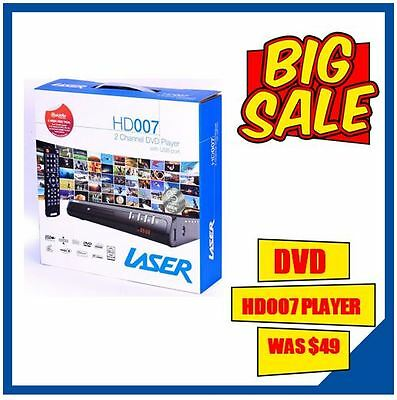LASER DVD PLAYER HDMI/RCA Composite - AVI XVID, USB INPUT Multi region Play All