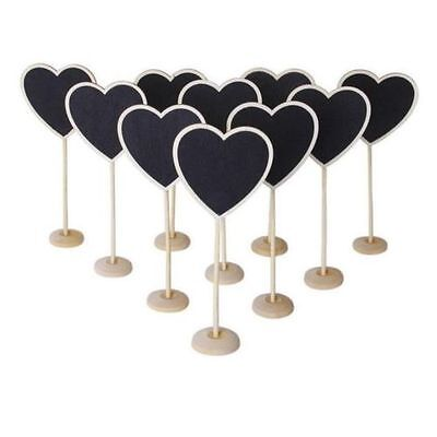 Heart Chalkboard Stands Mini Wooden Wedding Table Place Card Number Decor Pop 1x