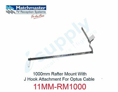 MATCHMASTER Antenna 1000mm Rafter Mount J Hook Attach 4 Optus Cable 11MM-RM1000
