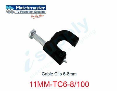 MATCHMASTER 100 x Cable Clip 6-8mm  11MM-TC6-8/100