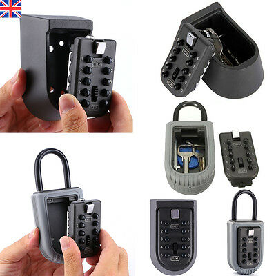 OUTDOOR KEY SAFE BOX Combination Security Keys Lock Wall Mounted Holder Car Home
