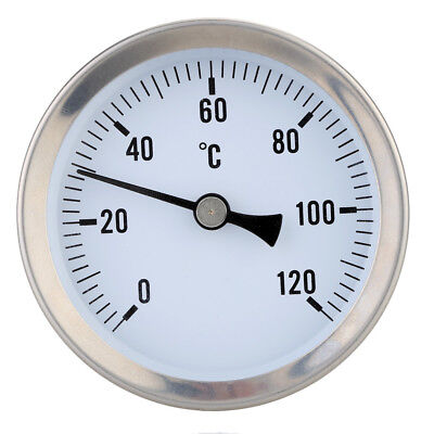 Home Industrial Clip-on Pipe Thermometer Temperature Gauge Dial with Spring