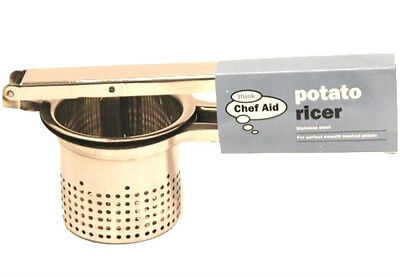 Potato Ricer For Smooth Mashed Potato Stainless Steel Chef Aid