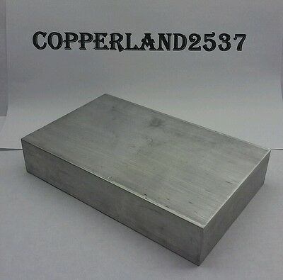 "1.25"" X4"" X 4"" long new 6061 solid aluminum stock plate flat bar cnc block 1-1/4"