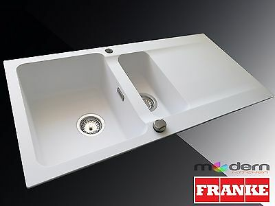 FRANKE Orion OID 651 WHITE 1.5 Bowl Tectonite Pop-Up Waste&Overflow