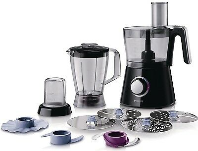 Powerful Philips Food Processor Kitchen Robot 28 Functions 750 W Black Blender