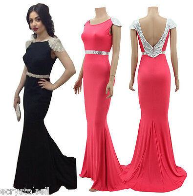 New Sexy Long Bridesmaid Party Cocktail Formal Evening Prom Womens Maxi Dress
