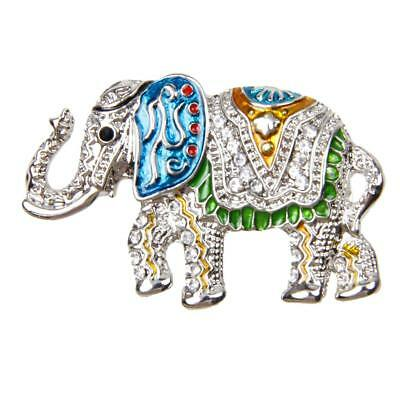 New Fashion Elephant Crystal Brooches Pin Vintage Women/Men Jewelry-Silver