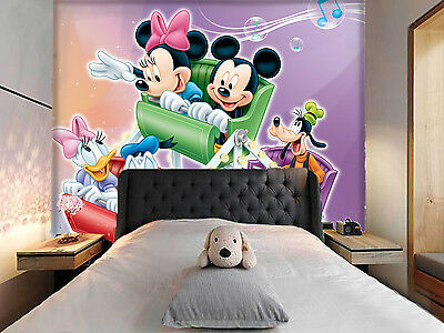 3D Couple Mickey Mouse Wall Murals Wallpaper Decal Decor Home Kids Nursery Mural