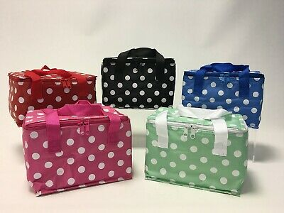 Polka Dot Cool Bag Picnic Sandwich Bags Insulated Packed Lunch Bag Retro Spot C8