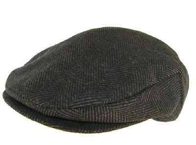 6cc5c950d HEADCHANGE MADE IN USA 100% Wool Ivy Scally Cap Brown Herringbone Driver Hat