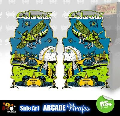 Galaxian Arcade Side Artwork Panel Stickers Graphics /  All Sizes Available