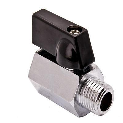 "Convenient New 1/4"" Mini Brass Ball Valve - Solid Chrome Plated NPT New GN"