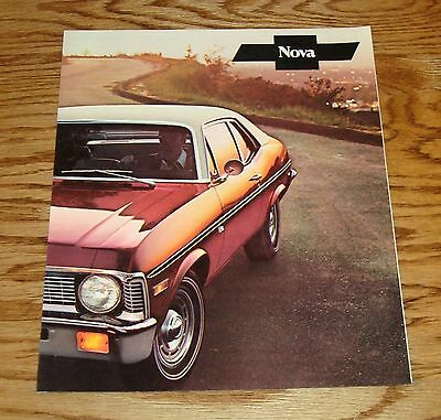 Original 1971 Chevrolet Nova Facts Features Sales Sheet Brochure 71 Chevy