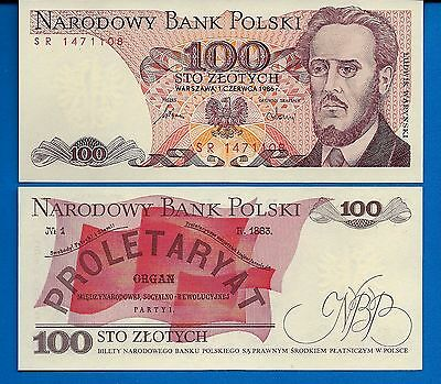 Poland P-143 100 Zlotych Year 1988 Uncirculated Banknote