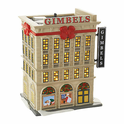 Dept 56 Elf the Movie Christmas Village Gimbels Department Store 4053059 NEW NIB