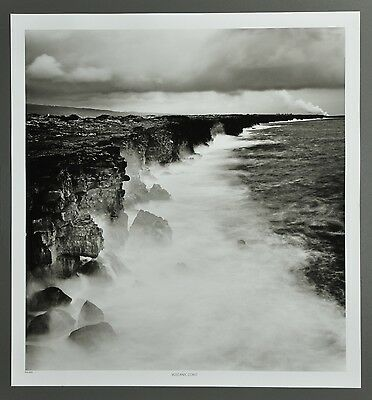 Josef Hoflehner Photo Kunstdruck Poster Art 50x53 Distance Steam Hawaii USA B&W