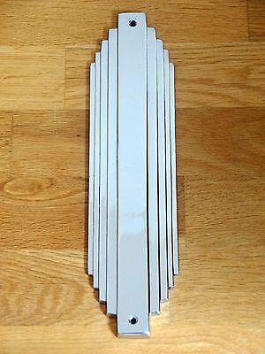 10 X Reclaimed Chrome Art Deco Finger Door Push Plates Fingerplate