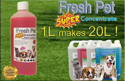 1L Super Concentrate Fresh Pet Kennel / Cattery Cleaner 1L Makes 20L! Bubble Gum