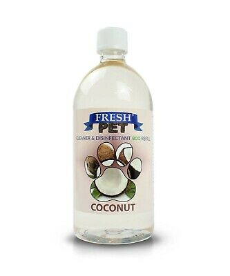 1L Super Concentrate Fresh Pet Kennel / Cattery Cleaner 1L Makes 25L! Coconut