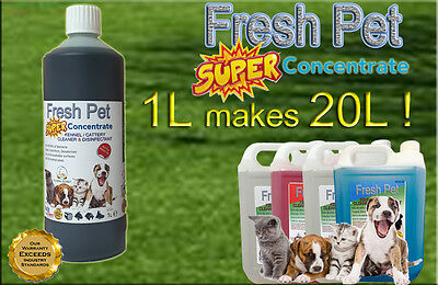 1L Super Concentrate Fresh Pet Kennel / Cattery Cleaner 1L Makes 20L! Floral
