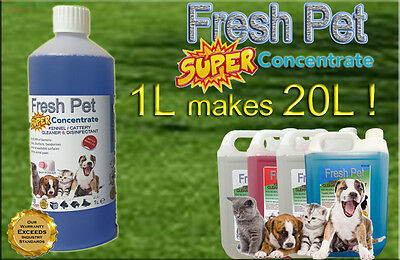 1L Super Concentrate Fresh Pet Kennel / Cattery Cleaner 1L Makes 20L Baby Powder