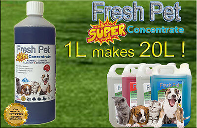 1L Super Concentrate Fresh Pet Kennel / Cattery Cleaner 1L Makes 20L! Alpine