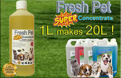 1L Super Concentrate Fresh Pet Disinfectant 1L = 20L! Vanilla