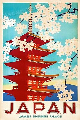 1950s See Japan - Vintage Style Japanese Railway Travel Poster - 24x36