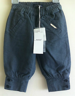 MANAI baby girl trousers size 12 months 1yr 12 months grey
