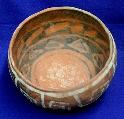 Vintage Antique Circa 1200-1400 A.D Arizona St. Johns Polychrome Pottery
