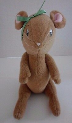 """2001 AMERICAN GIRL Plush 10"""" Posable Jointed ANGELINA BALLERINA Mouse Sewn Eyes"""