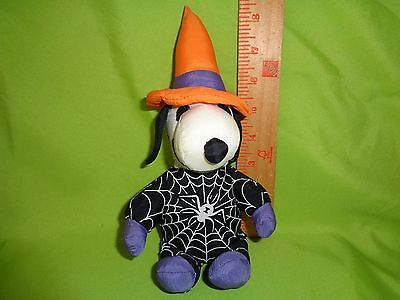 PEANUTS SNOOPY HALLOWEEN WITCH WITH SPIDER plush stuffed animal toy doll