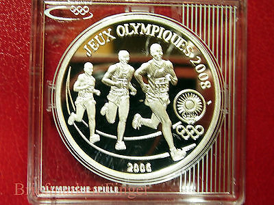2006 Rwanda Large Silver Proof 500 M Bejing Olympic Runners