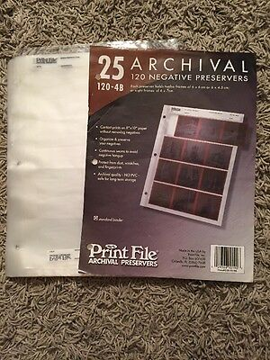 42 Quality PRINT FILE 35mm Negative Pages Sleeves Film Archival Preservers